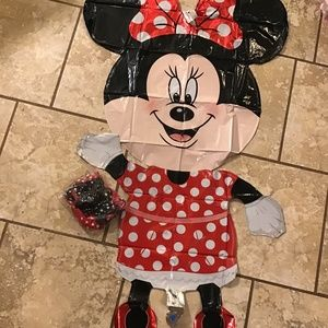 Other - BIG walking minnie Mylar balloon plus 20 polka dot